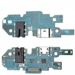 Lankscioji jungtis Samsung A105 A10 2019 Dual SIM (SUB 0.1) su ikrovimo kontaktu, mikrofonu, ausiniu