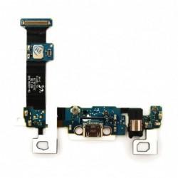 Lankscioji jungtis Samsung G928 S6 Edge Plus su ikrovimo kontaktu, mikrofonu, ausiniu lizdu ir funkc