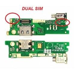 Lankscioji jungtis Sony G3112 Xperia XA1 DUAL SIM su ikrovimo kontaktu ir mikrofonu HQ