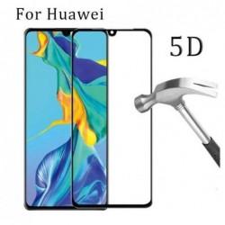 """LCD apsauginis stikliukas """"5D Full Glue"""" Huawei P30 lenktas juodas be ipakavimo"""