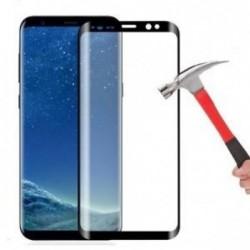"""LCD apsauginis stikliukas """"5D Full Glue"""" Samsung A8 Plus (2018) A730 lenktas juodas be ipakavimo"""