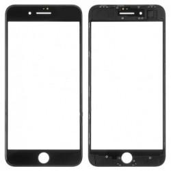 LCD stikliukas Apple iPhone 8 Plus su remeliu ir OCA juodas ORG (v2)