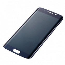 LCD stikliukas Samsung G928F S6 Edge Plus tamsiai melynas ORG