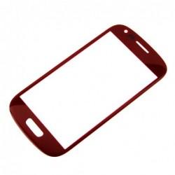 LCD stikliukas Samsung i8190 S3 mini raudonas