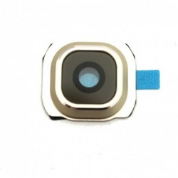 Samsung G925 S6 Edge kameros stikliukas auksinis HQ