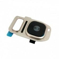 Samsung G930/G935 S7 Edge kameros stikliukas auksinis ORG