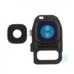 Samsung G930/G935 S7 Edge kameros stikliukas juodas ORG