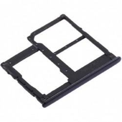 SIM korteles laikiklis Samsung A415 A41 2020 juodas ORG