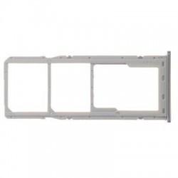 SIM korteles laikiklis Samsung A705 A70 2019 baltas (sidabrinis) ORG