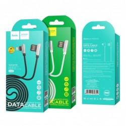 USB kabelis HOCO U42 Exquisite steel microUSB 1,2m juodas