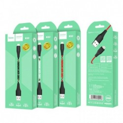 "USB kabelis HOCO X32 Excellent ""lightning"" 1m raudonas"