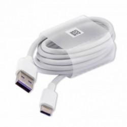 USB kabelis ORG Huawei AP71 HL1289 Super FAST 5A charging type-C baltas (1M)
