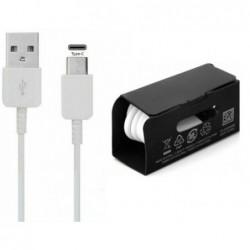 USB kabelis originalus Samsung S10 S10+ S9 Type-C (EP-DG970BWE) baltas (1M)