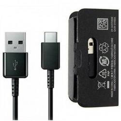 USB kabelis originalus Samsung S10 S10+ S9 Type-C (EP-DG970CBE) juodas (1M)