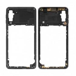 Vidinis korpusas Samsung A750 A7 2018 juodas su soniniais mygtukais originalus (used Grade B)