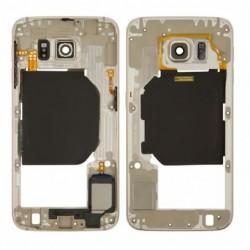 Vidinis korpusas Samsung G920F S6 auksinis su zumeriu ir soniniais mygtukais originalus (used Grade