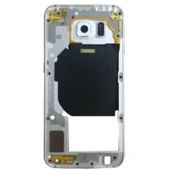 Vidinis korpusas Samsung G920F S6 sidabrinis (baltas) su zumeriu ir soniniais mygtukais originalus (