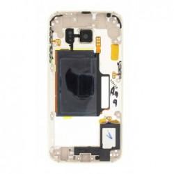 Vidinis korpusas Samsung G925F S6 Edge auksinis su zumeriu ir soniniais mygtukais originalus (used G