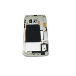 Vidinis korpusas Samsung G925F S6 Edge pilkas (melynas) su zumeriu ir soniniais mygtukais originalus
