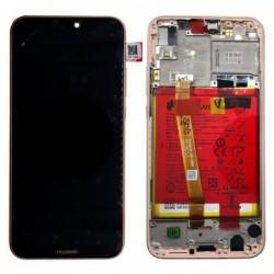 Ekranas Huawei P20 Lite su lietimui jautriu stikliuku su remeliu ir baterija rozinis (Sakura Pink) originalus (service pack)