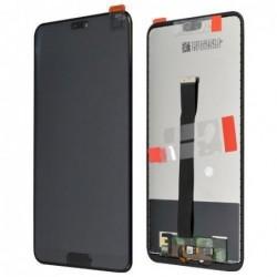 Ekranas Huawei P20 su lietimui jautriu stikliuku su home mygtuku juodas HQ