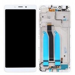 Ekranas Xiaomi Redmi 6/6A su lietimui jautriu stikliuku su remeliu baltas originalus (service pack)