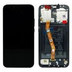 Ekranas Huawei Mate 20 Lite su lietimui jautriu stikliuku su remeliu ir baterija juodas originalus (service pack)