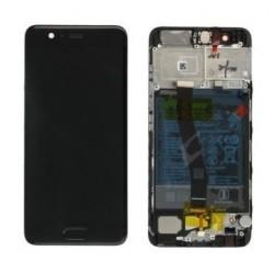 Ekranas Huawei P10 su lietimui jautriu stikliuku su remeliu juodas originalus (used Grade A)