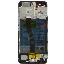 Ekranas Huawei P20 PRO su lietimui jautriu stikliuku ir remeliu juodas originalus (used Grade A)