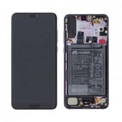 Ekranas Huawei P20 PRO su lietimui jautriu stikliuku ir remeliu juodas originalus (used Grade C)