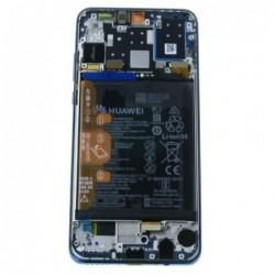 Ekranas Huawei P30 Lite su lietimui jautriu stikliuku ir remeliu melynas (Peacock Blue) originalus (used Grade A)