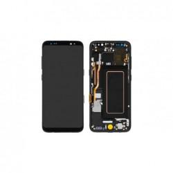 Ekranas Samsung G950F S8 su lietimui jautriu stikliuku ir remeliu juodas originalus (used Grade B)