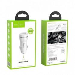 Ikroviklis automobilinis HOCO Z27A QC3.0 USB 18W (3.6V-6.5V/3A, 6.6-9V/2A, 9.1V-12V/1.5A) baltas