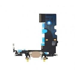 Lankscioji jungtis Apple iPhone 8 ikrovimo kontaktu, su mikrofonu auksine ORG