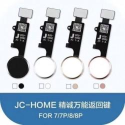 Lankscioji jungtis iPhone 7/7 Plus/8/8 Plus JC 5th Generation HOME mygtuko sidabrine