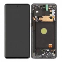 Ekranas Samsung N770F Note 10 Lite su lietimui jautriu stikliuku ir remeliu juodas originalus (service pack)