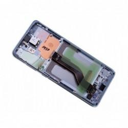 Ekranas Samsung G985F/G986F S20 Plus su lietimui jautriu stikliuku ir remeliu melynas (Cloud Blue) originalus (service pack)