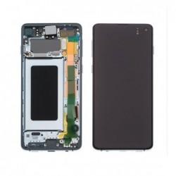 Ekranas Samsung G973F S10 su lietimui jautriu stikliuku zalias (Prism Green) originalus (service pack)