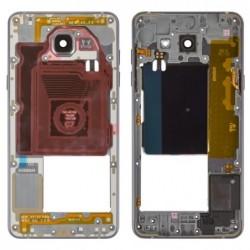 Vidinis korpusas Samsung A510 A5 2016 pilkas (juodas) su zumeriu ir soniniais mygtukais originalus (used Grade B)