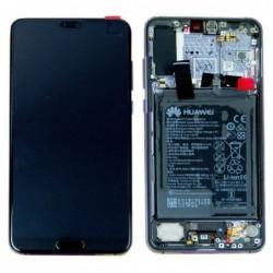 Ekranas Huawei P20 PRO su lietimui jautriu stikliuku ir remeliu melynas (Midnight Blue) originalus (used Grade B)