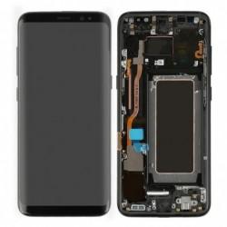 Ekranas Samsung G955F S8 Plus su lietimui jautriu stikliuku ir remeliu juodas originalus (used Grade A)