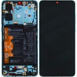 Ekranas Huawei P30 su lietimui jautriu stikliuku su remeliu ir baterija Aurora originalus (service pack)