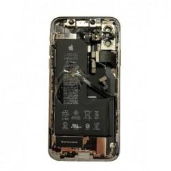 Galinis dangtelis iPhone X pilkas (space grey) pilnas su sleifais ir baterija (used Grade B)