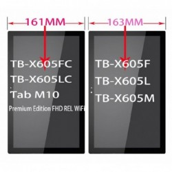 Ekranas Lenovo Tab M10 X605L/F/M 10.1 su lietimui jautriu stikliuku juodas (didesne versija) HQ