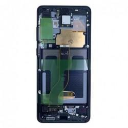 Ekranas Samsung G985F/G986F S20 Plus su lietimui jautriu stikliuku ir remeliu juodas originalus (service pack)