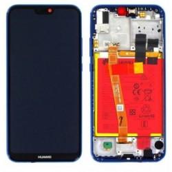 Ekranas Huawei P20 Lite su lietimui jautriu stikliuku su remeliu ir baterija melynas originalus (service pack)